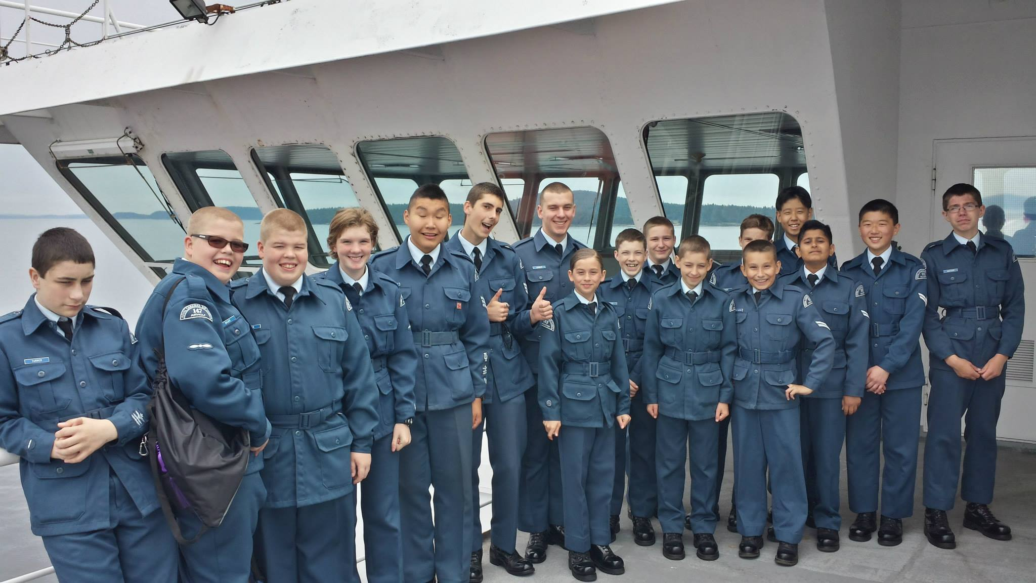 Cadets on the Ferry trip to Victoria