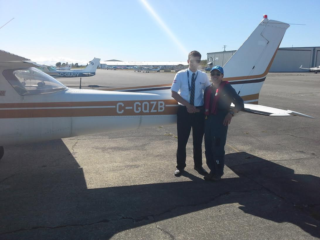 WO2 Ian Park - first solo flight