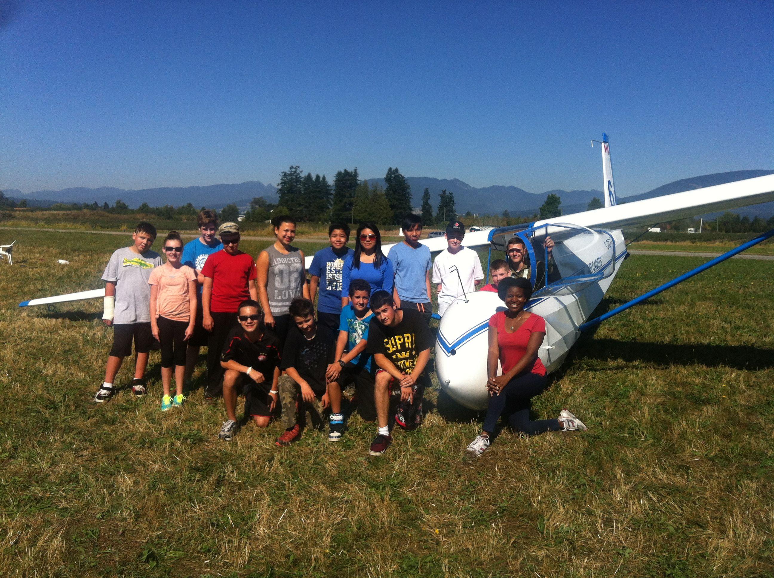 Level 1 Cadets Go Gliding - 14 Sep 14 Pitt Meadows