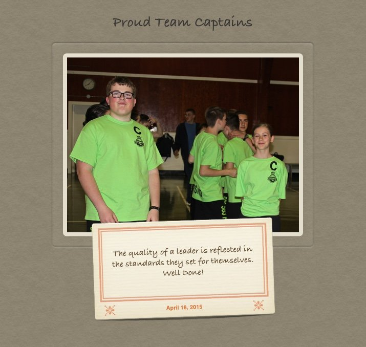 First Aid Team Capatins Photo from Apr 18, 2015