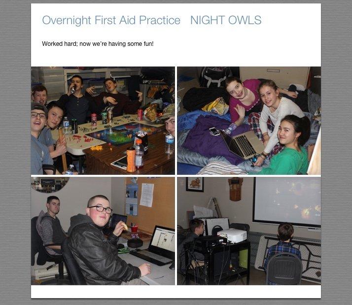 First Aid Overnight Night Owls