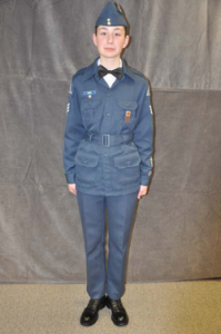C-8(Mess dress) Same as C-2, but with white dress shirt and black bow tie replacing the issued blue shirt and tie. Medal ribbons may be worn (not medals). Name-tag at the discretion of the CO. Females can wear dresses with their hair done up in the back. Cadets with no uniform can wear dress pants with white dress shirt and black tie.